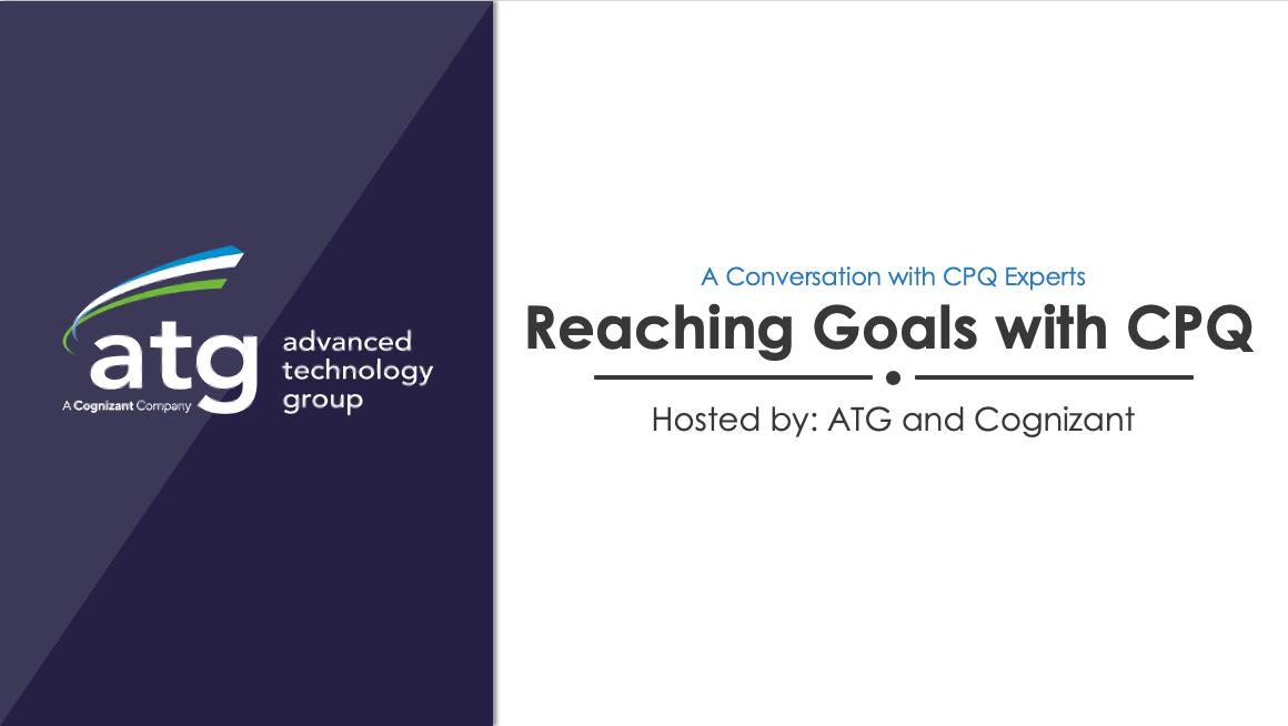 Reaching Goals with CPQ