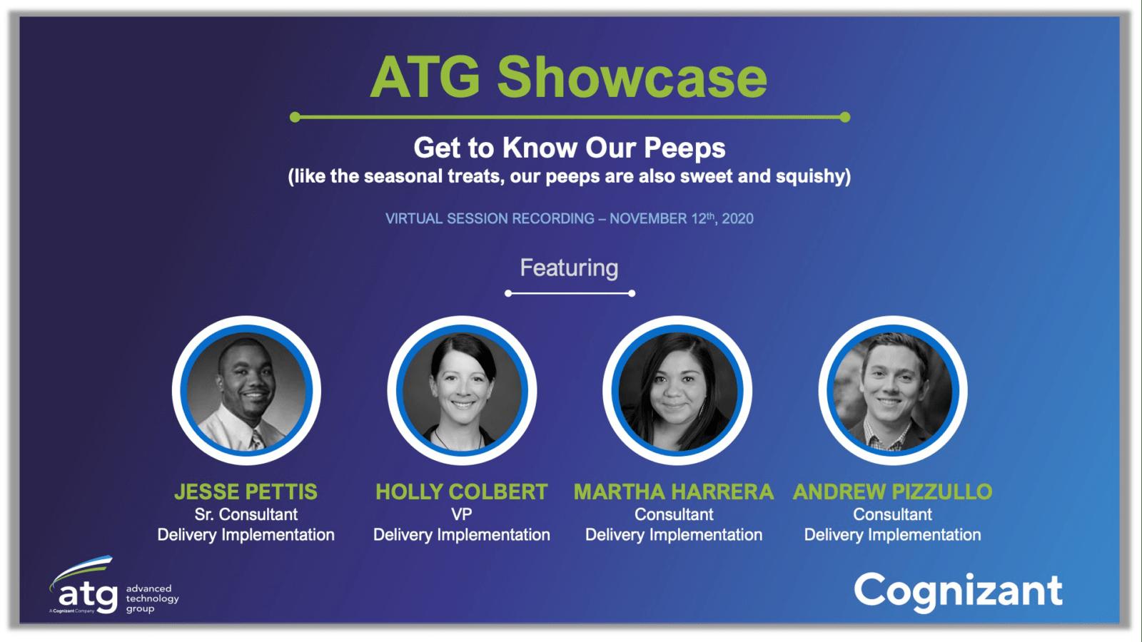 ATG Showcase Series: Our Peeps