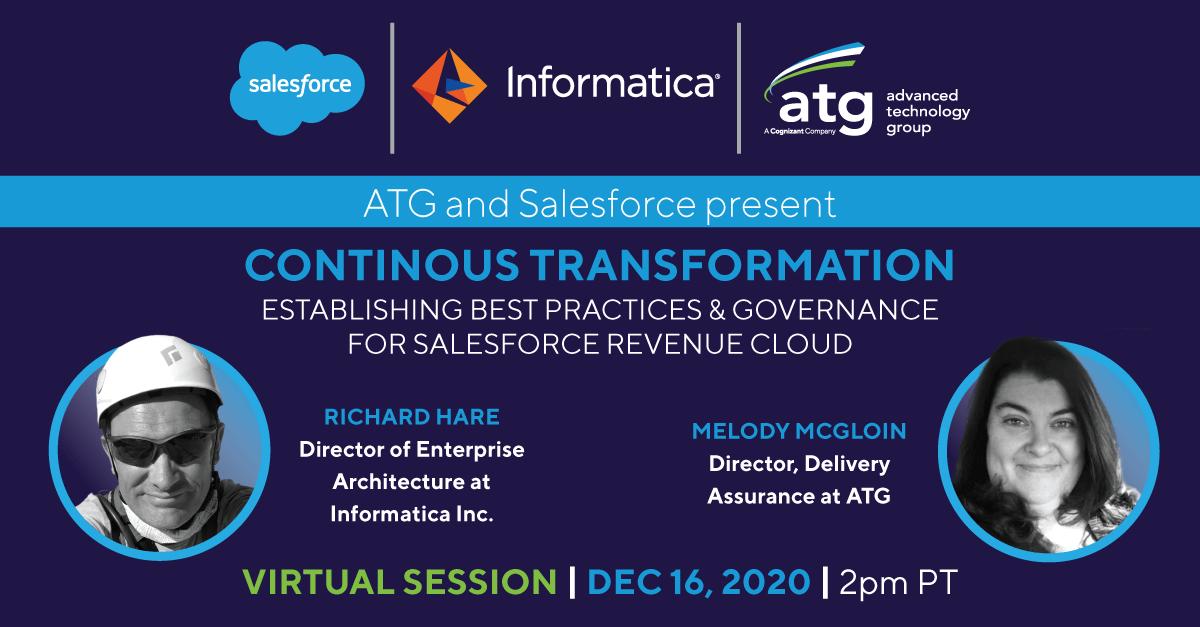 Continuous Transformation: Establishing Best Practices & Governance for Salesforce Revenue Cloud